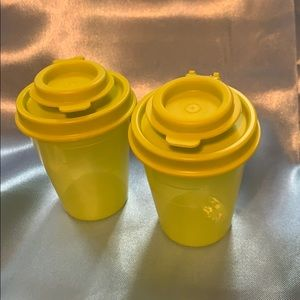 New! Tupperware mini salt and pepper shakers